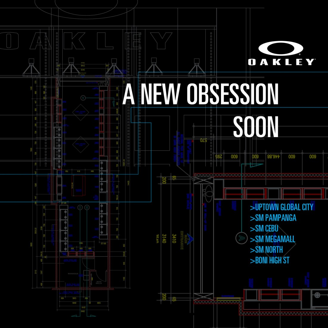 Oakley Philippines Coming Soon O stores